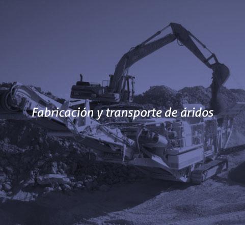 Fabricación y transporte de áridos